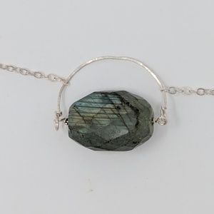 NWOT Labradorite & Sterling Silver Necklace